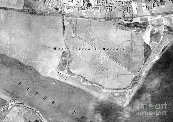 Road Map Photograph - Dartford, Historical Aerial Photograph by Getmapping Plc
