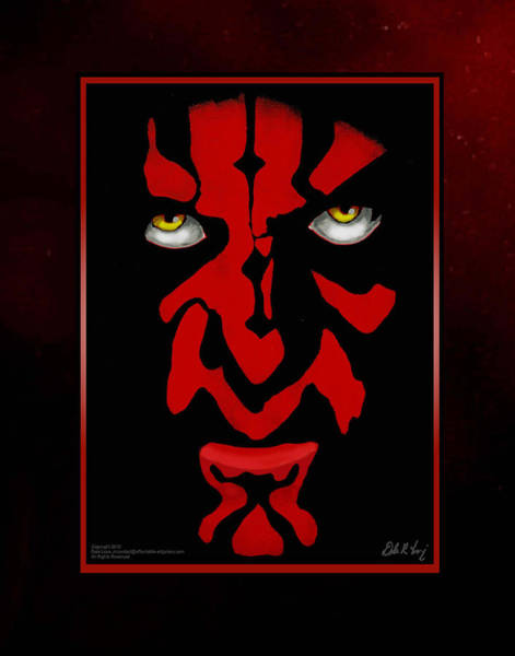 Painting - Darth Maul by Dale Loos Jr
