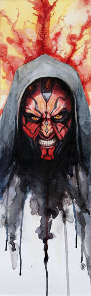 Star Painting - Darth Maul by David Kraig