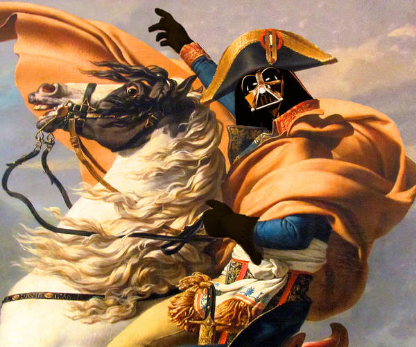 Painting - Darth Vader Star Wars Napoleon Painting by Tony Rubino
