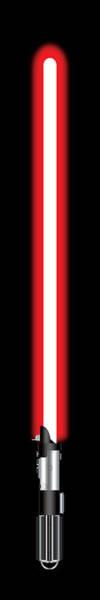 Episode Iv Wall Art - Digital Art - Darth Vader's Lightsaber by Nathan Shegrud
