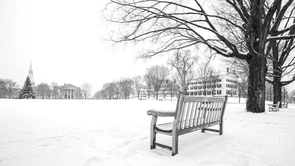 Christmas Tree Photograph - Dartmouth College Green In Winter by Edward Fielding