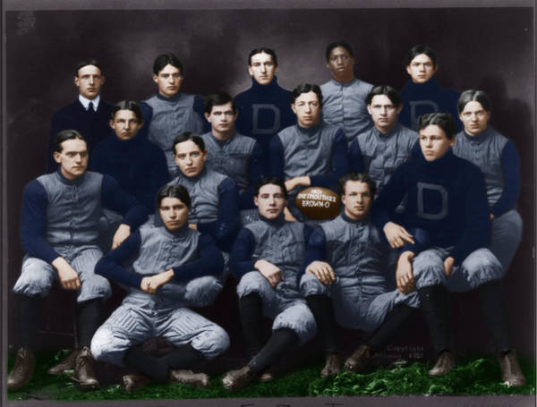 Photograph - Dartmouth Football Team 1901 By H. H. H. Langill by Celestial Images