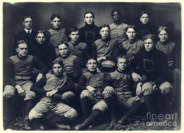 Photograph - Dartmouth Football Team 1901 by Edward Fielding