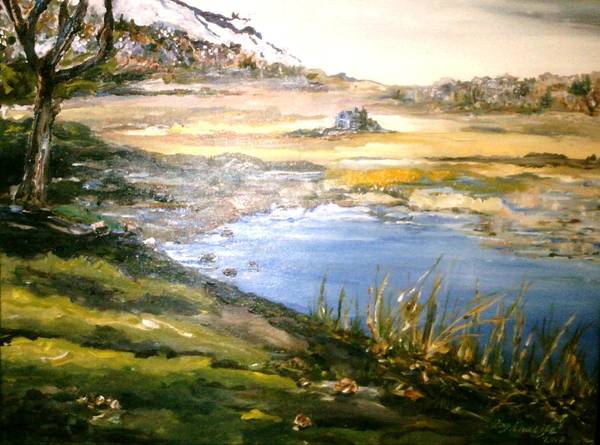 Painting - Dartmouth Landscape by Ray Khalife