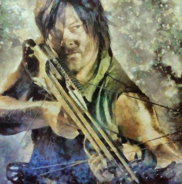 The Walking Dead Painting - Dary Dixon 8 by Janice MacLellan