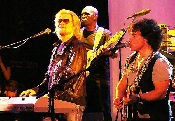 Photograph - Daryl Hall And Oates In Concert by Alice Gipson