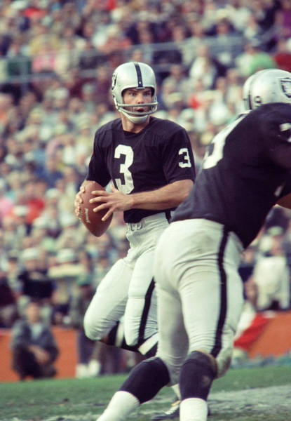 Football Photograph - Daryle Lamonica Drops Back by Retro Images Archive