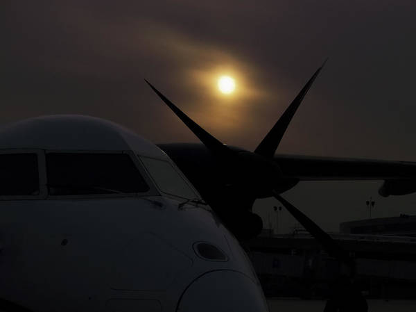 Photograph - Dash 8 Silhouette by Greg Reed