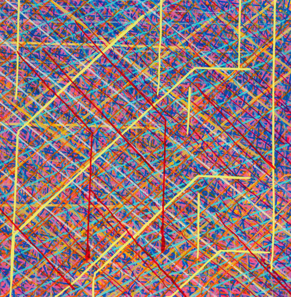 Wall Art - Painting - Data Structure by Patrick OLeary