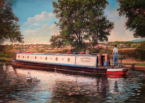 Swan Boats Photograph - Dats And Doris by MGL Meiklejohn Graphics Licensing