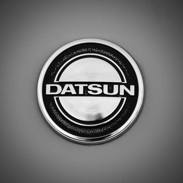 Wall Art - Photograph - Datsun Emblem -1151bw by Jill Reger