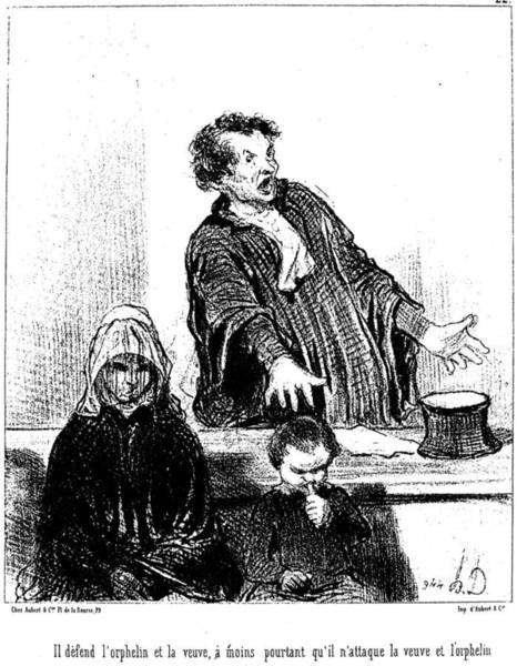 Defendant Painting - Daumier Barrister, 1846 by Granger