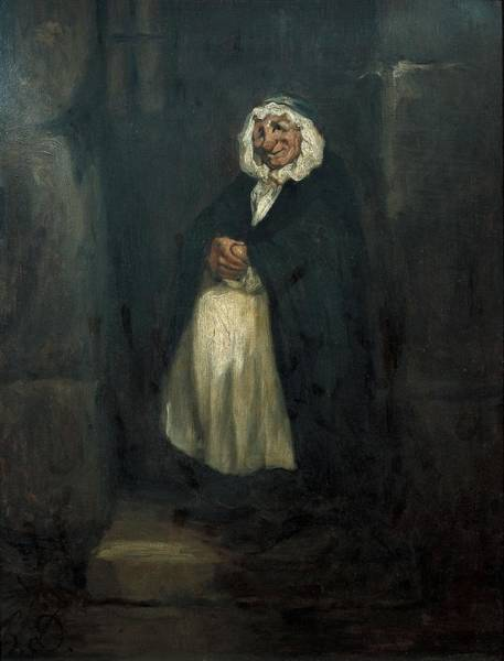 Sonrisa Wall Art - Photograph - Daumier, Honor� 1808-1879. The Old by Everett