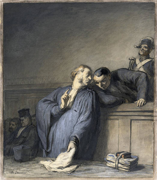 Murderer Painting - Daumier Lawyer, C1865 by Granger