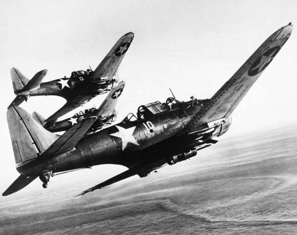 Sbd Wall Art - Photograph - Dauntless Dive Bombers by Granger
