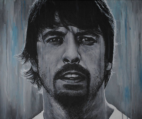 Foo Fighters Wall Art - Painting - Dave Grohl by David Dunne