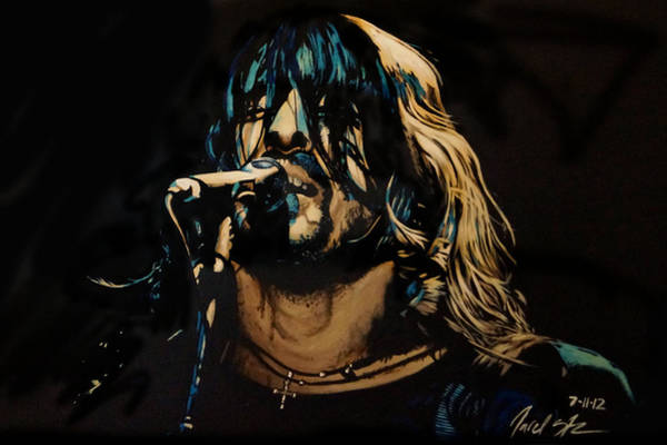 Dave Grohl Painting - Dave Grohl by Jared  Stone