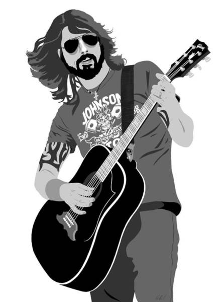 Foo Fighters Wall Art - Digital Art - Dave Grohl by Paul Dunkel