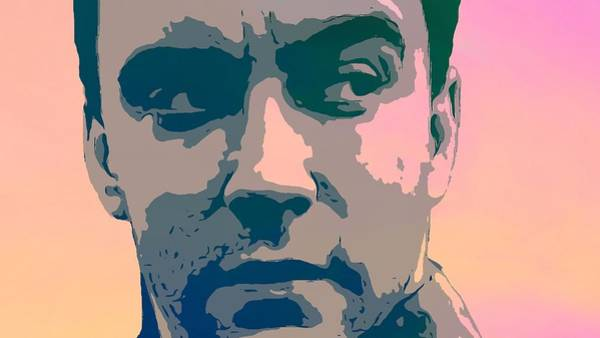 Marching Digital Art - Dave Matthews Portrait Poster by Dan Sproul
