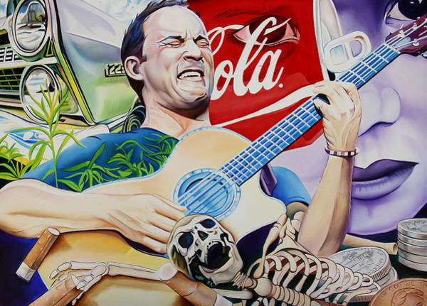Wall Art - Painting - Dave Matthews Seek Up by Joshua Morton