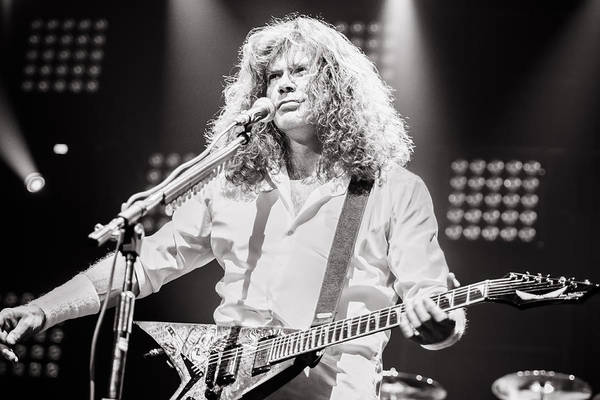 Megadeth Wall Art - Photograph - Dave Mustain From Megadeth. Live 2012 by Lidia Sharapova