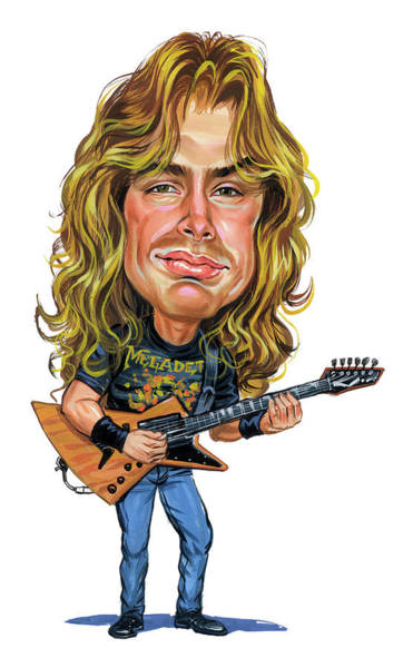Thrash Metal Wall Art - Painting - Dave Mustaine by Art