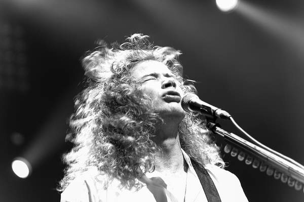 Megadeth Wall Art - Photograph - Dave Mustaine Bw Live 2012 by Lidia Sharapova