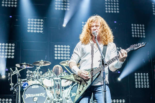 Megadeth Wall Art - Photograph - Dave Mustaine Live In Moscow 2012 by Lidia Sharapova