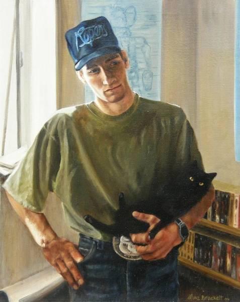 Painting - David And Pulim by Lori Brackett