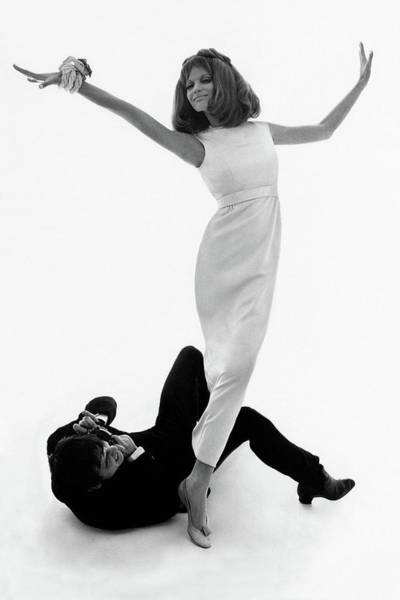 Two People Photograph - David Bailey Taking A Photograph Of Veruschka by Bert Stern