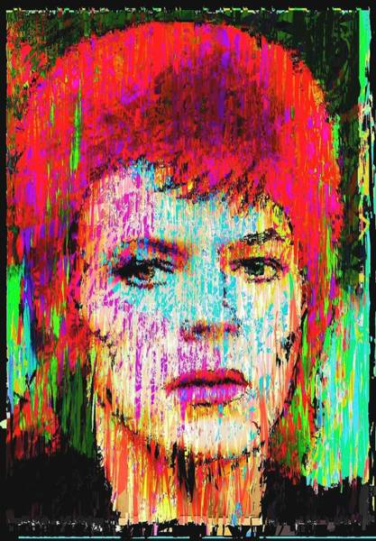 Starman Painting - David Bowie by Brett Sixtysix