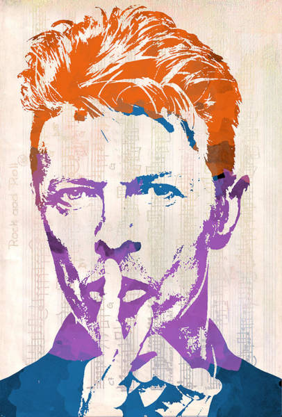 Digital Art - David Bowie by Paulette B Wright