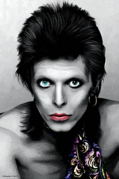 Glam Rock Digital Art - David Bowie The Chameleon by Gabriel T Toro