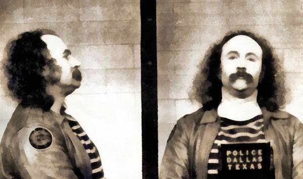 Wall Art - Photograph - David Crosby Mugshot by Dan Sproul