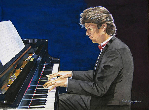 Grand Piano Painting - David Foster Symphony Sessions Portrait by David Lloyd Glover