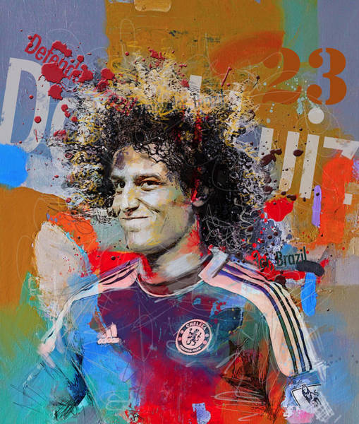 Wall Art - Painting - David Luiz by Corporate Art Task Force