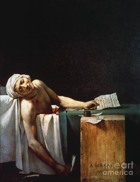 Photograph - David: The Death Of Marat by Granger