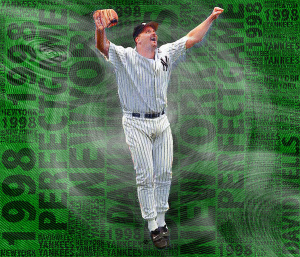 Painting - David Wells Yankees Perfect Game 1998 by Tony Rubino