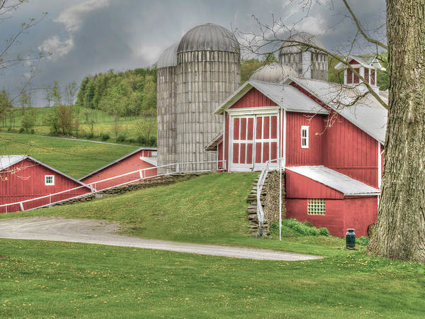 Dairy Barn Digital Art - Davis Or Young Farm by David Simons