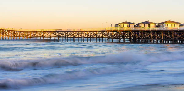 Photograph - Dawn At Crystal Pier by Priya Ghose