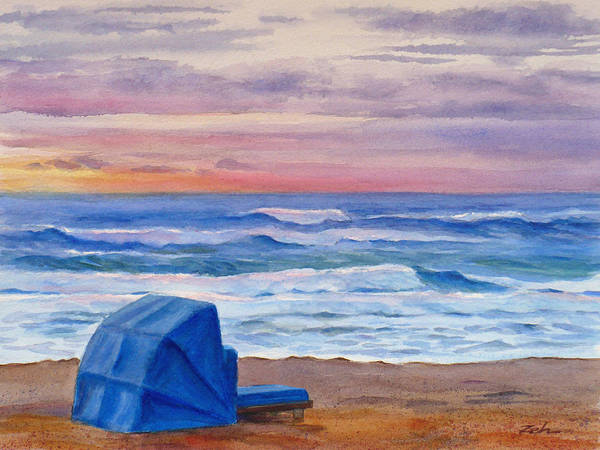 Painting - Dawn At Delray Beach by Janet Zeh