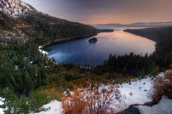Lake Tahoe Photograph - Dawn At Emerald Bay by Photo ©tan Yilmaz