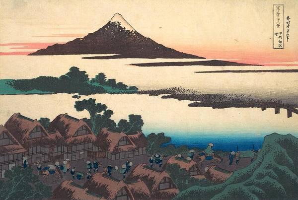 Thirty-six Views Of Mount Fuji Wall Art - Painting - Dawn At Isawa In Kai Province by Katsushika Hokusai