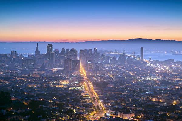 San Francisco Wall Art - Photograph - Dawn Colors - San Francisco by David Yu