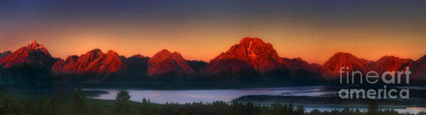 Photograph - Dawn Light On The Tetons Grant Tetons National Park Wyoming by Dave Welling