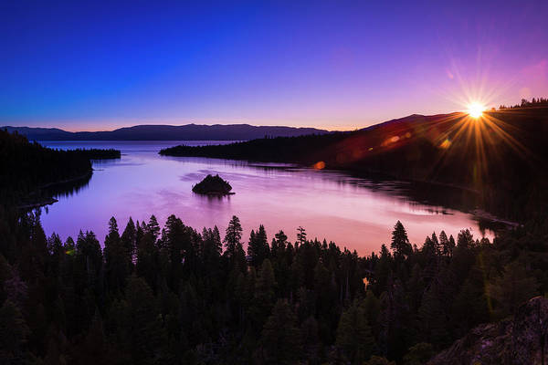 Emerald Bay Photograph - Dawn Light Over Emerald Bay On Lake by Russ Bishop