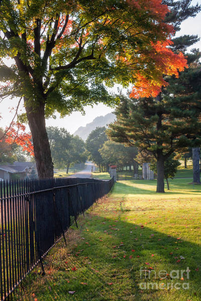 Photograph - Dawn Magic At Woodlawn Cemetery Winona by Kari Yearous