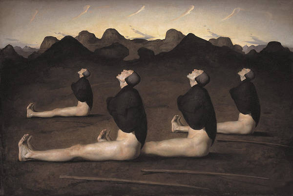 Posture Painting - Dawn by Odd Nerdrum