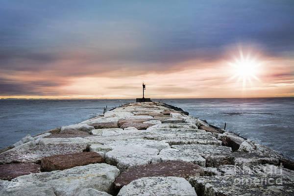 Waterbreak Wall Art - Photograph - Dawn Of A New Day by Elisa Spreafichi